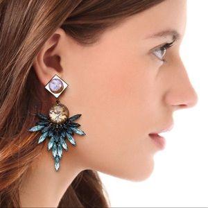Beautiful DANNIJO Odessa crystals mirror Earrings